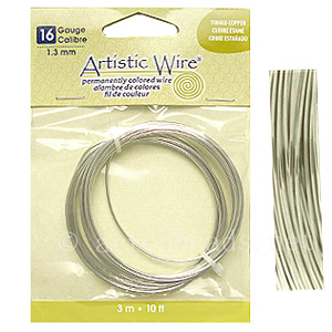 *Artistic Wire - Tinned Copper - 1.3mm - 3m/10ft - Click Image to Close