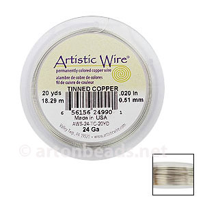 Artistic Wire - Tinned Copper - 0.51mm - 20Y