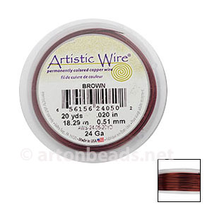 Artistic Wire - Brown - 0.51mm - 20Y