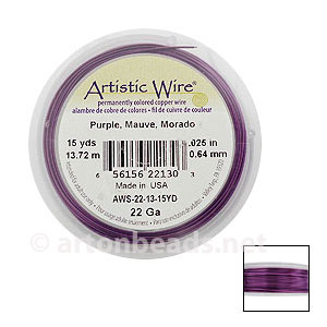 Artistic Wire - Purple - 0.64mm - 15Y
