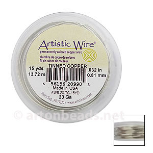 Artistic Wire - Tinned Copper - 0.81mm - 15Y
