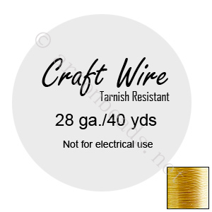 Craft Wire - Non-Tarnish Gold Plated - 0.3mm - 40Y