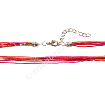 "*Artificial Cord With Clasp - 1mmx8 - 18"" - Click Image to Close"