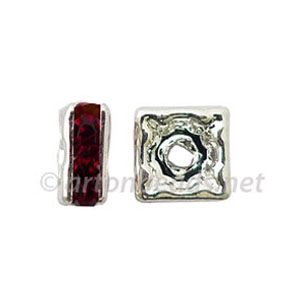 *Crystal Squaredelle - Siam - 5mm - 10pcs