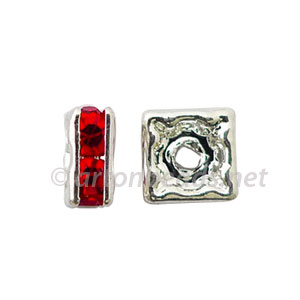 *Crystal Squaredelle - Light Siam - 5mm - 10pcs