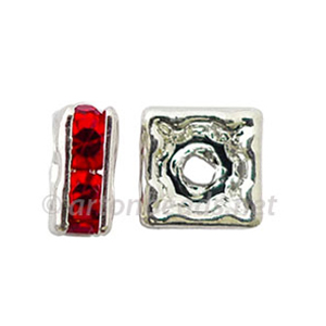 *Crystal Squaredelle - Light Siam - 6mm - 10pcs