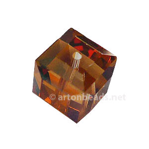 Crystal Copper - Swarovski 5601 Cube - 8mm