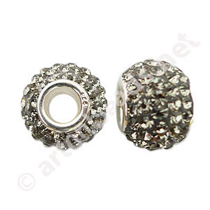Black Diamond - Swarovski Large Hole Diamond Bead - 12x13.5mm